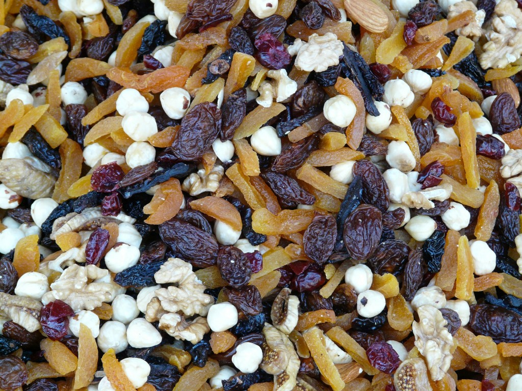 This hearty trail mix is easy to put together on your own. Just toss together some apricots, hazelnuts, raisins, and walnuts, and voila! You have a salty-sweet mix that fills up rumbling tummies.